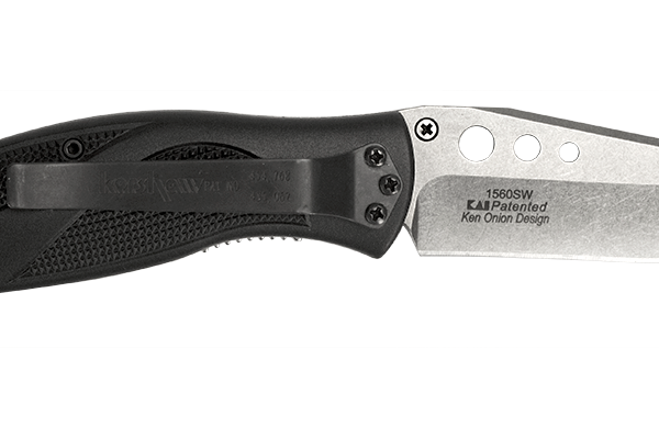 Kershaw 1560SW Whirlwind knife, with Speed-Safe™ opening and high-performance 14C28N steel by Sandvik.
