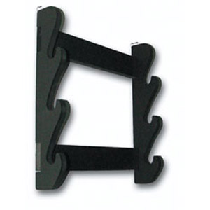 Aka 03-MI, the OT03 Three Sword Wall Rack is an economical way to display your swords in a simple, spartan presentation.