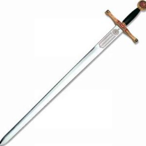 Excalibur, the sword of Arthur, legendary King of the Britons.