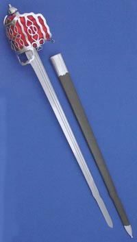 The name 'back sword' refers to the single edge blade having a flat back.