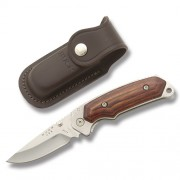 This version of the Alpha Hunter has a drop-point blade and rosewood handle scales.